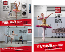 Examples of posters from the 2012 Colorado Ballet season