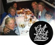 Photo of the Launchettes having dinner in Aspen as part of their 10 year anniversary celebration