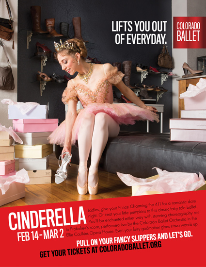Colorado Ballet Cinderella advertising poster