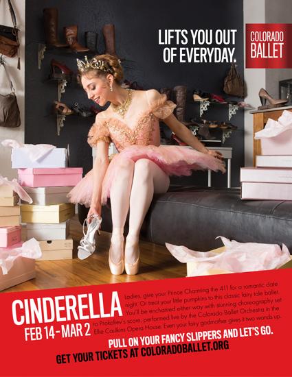 Colorado Ballet Cinderella advertising poster