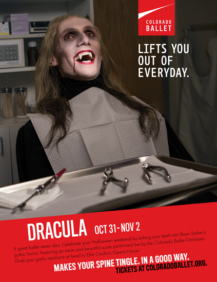 Colorado Ballet Dracula advertising poster