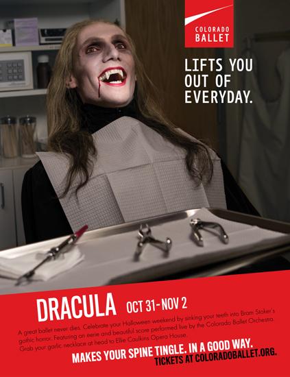 Colorado Ballet Dracula advertising poster