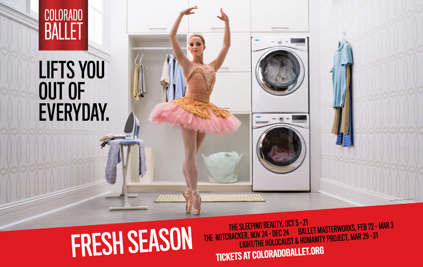 Colorado Ballet Fresh Season advertising poster