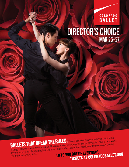 Colorado Ballet Director's Choice advertising poster