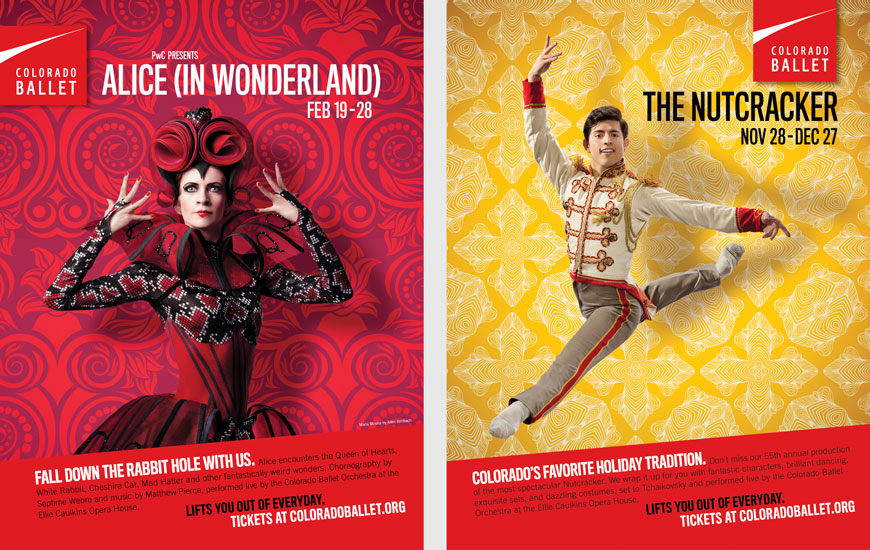 Colorado Ballet Alice and Nutcracker posters