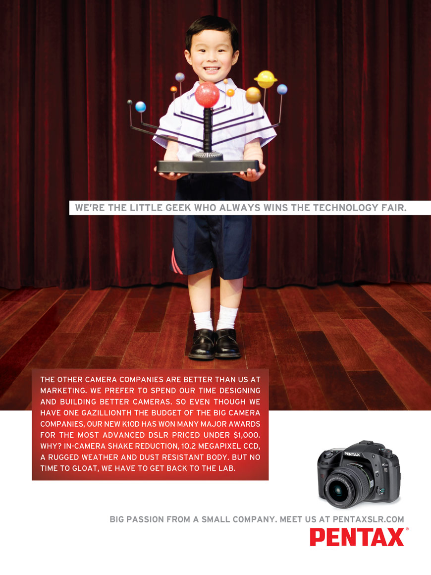 "Pentax Print Ad ""Little Geek"""