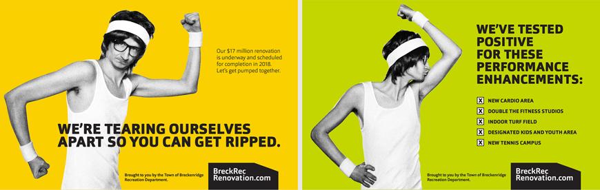 "Post for the ""Breck Rec"" Breckenridge Recreation Department campaign"