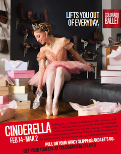 Poster for Colorado Ballet's Cinderella